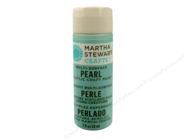 Martha Stewart Craft Paint by Plaid Pearl Jet Stream 2oz