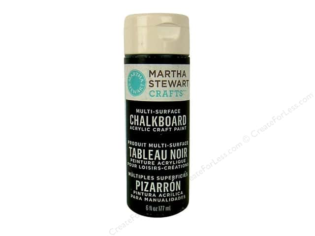 Martha Stewart Chalkboard Paint by Plaid Black 6 oz.