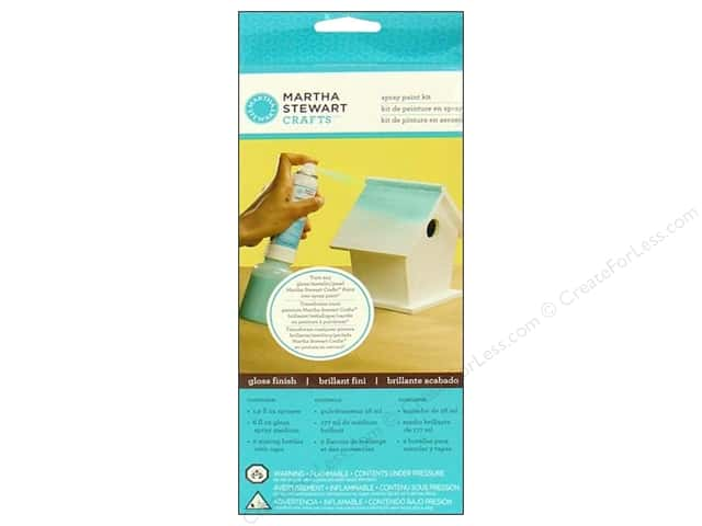 Martha Stewart Craft Paint by Plaid Spray Kit Gloss