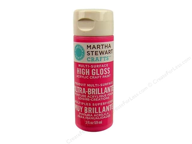 Martha Stewart Craft Paint by Plaid Gloss Amaranth 2oz