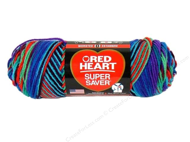 Red Heart Super Saver Yarn #0906 Heartfelt 5 oz.