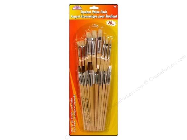 Loew Cornell Brush Set Contemporary Crafts Student Value Pack 25pc