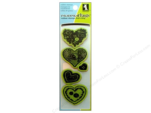 Inkadinkado Stamp Inkadinkaclings Sewing Hearts