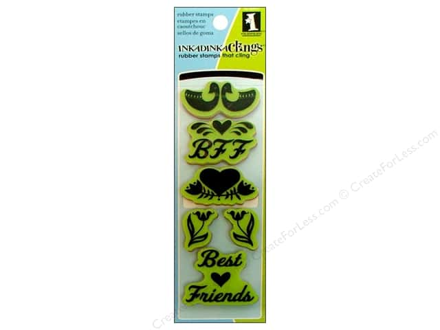 Inkadinkado InkadinkaClings Rubber Stamp Folk Best Friend
