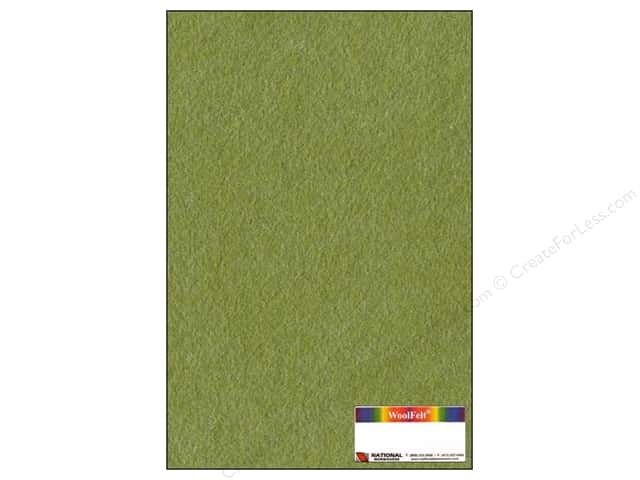 National Nonwovens WoolFelt 12 x 18 in. 35% Shady Grove (12 sheets)