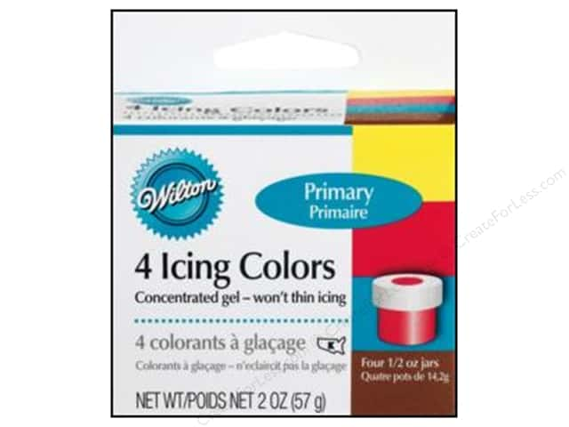 Wilton Decorating Color Icing Gel Set Primary 4pc
