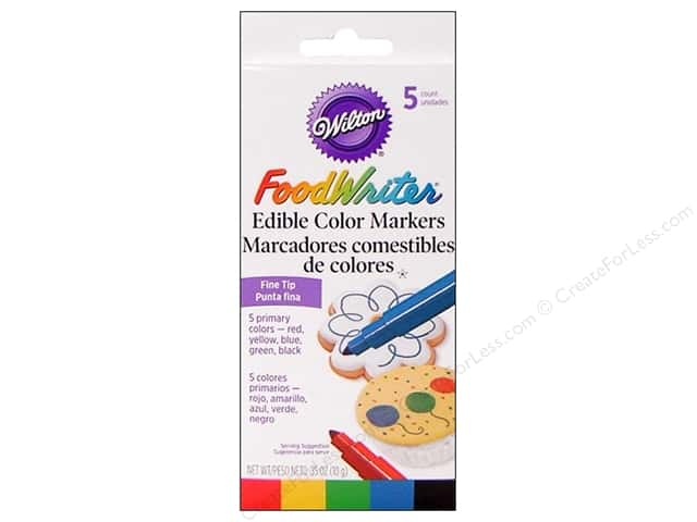 Wilton FoodWriter Edible Color Markers Fine Tip Primary 5 pc.