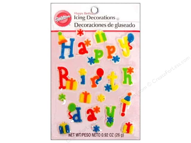 Wilton Edible Decorations Icing Decorations Happy Birthday