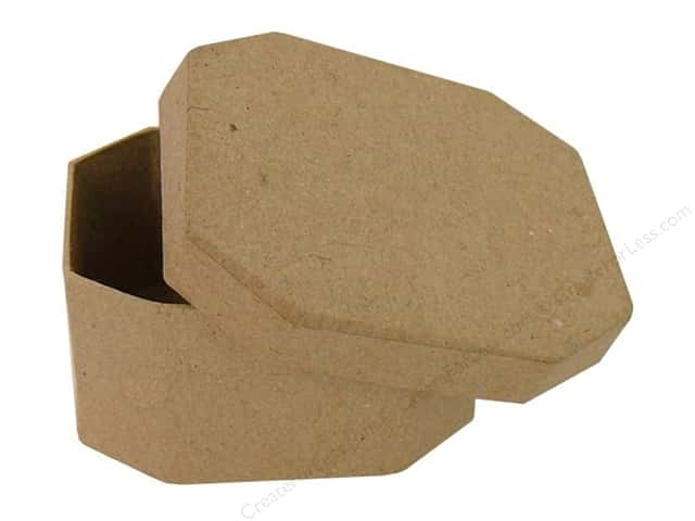 Paper Mache Wide Octagon Box by Craft Pedlars (36 pieces)