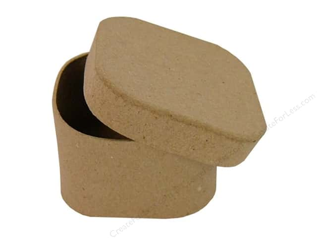 Paper Mache Square Box Rounded Corners by Craft Pedlars (36 pieces)