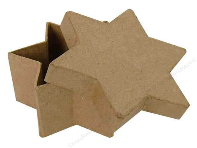 Paper Mache Star Box by Craft Pedlars (36 pieces)