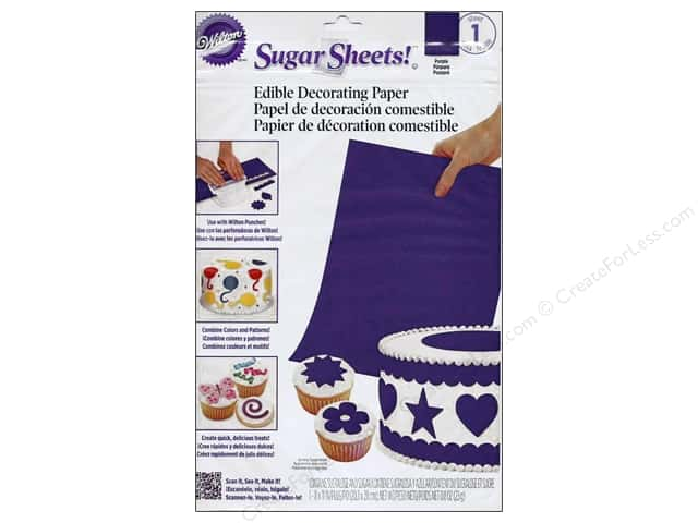 "Wilton Edible Decorations Sugar Sheets Paper 8""x 11"" Purple"