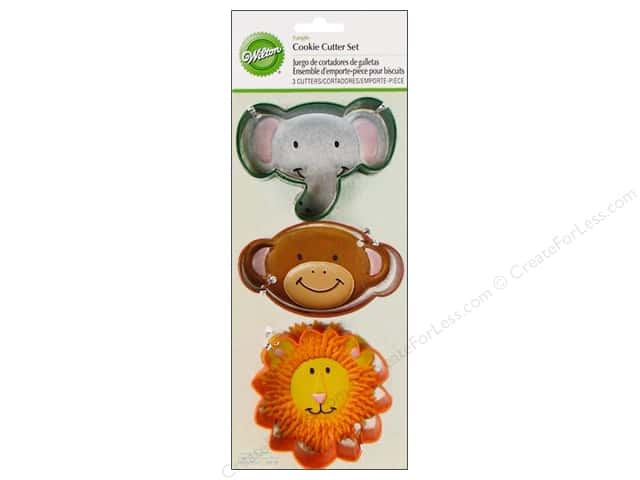 Wilton Cookie Cutter Set Metal Jungle 3pc