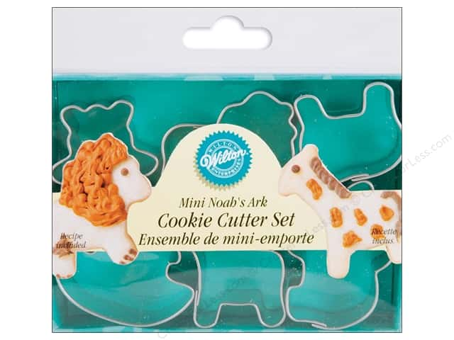 Wilton Cookie Cutter Set Metal Mini Noah's Ark 6pc