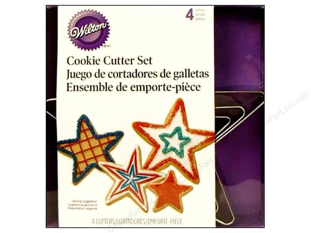 Wilton Cookie Cutter Set Nest Metal Stars 4pc