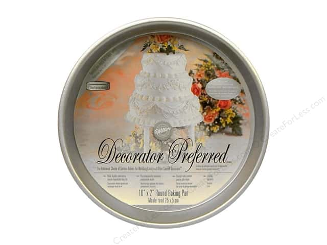 "Wilton Bakeware Decorator Preferred Pan Round 10""x 2"" Aluminum"