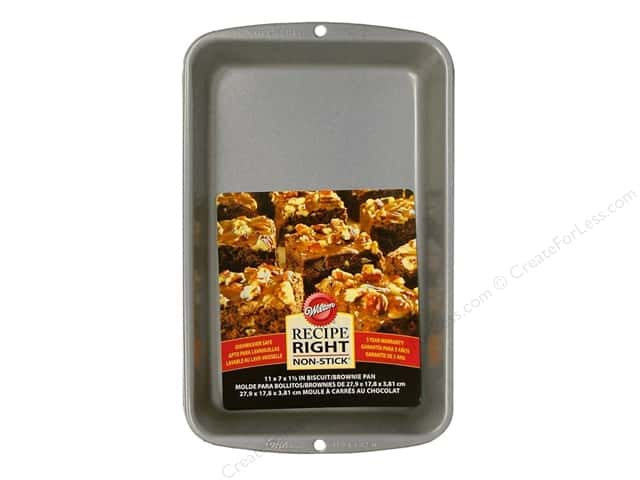 "Wilton Bakeware Biscuit/Brownie Pan 11""x 7"" Non Stick"