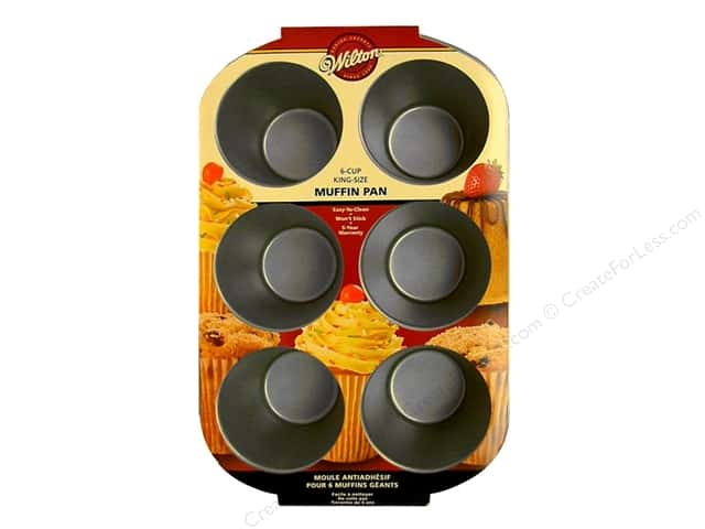 Wilton Bakeware Muffin Pan King Size 6 Cup Non Stick