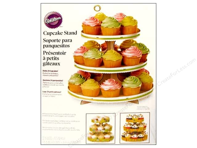 "Wilton Containers Cupcake Stand 3 Tier 10.5"" High White"