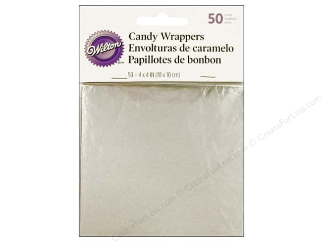 Wilton Candy Wrappers 4 x 4 in. 50 pc. Silver Foil