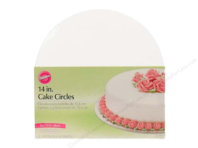 "Wilton Decorations Cake Circles 14"" 8pc"