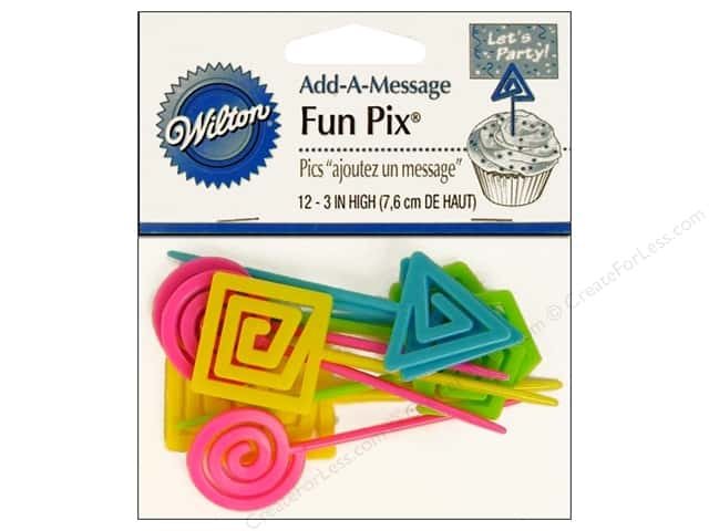 Wilton Decorations Wilton Cupcake Party Picks 12pc