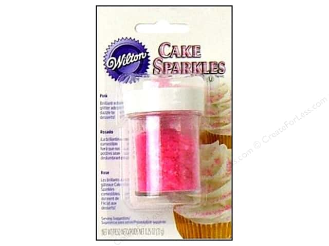 Wilton Edible Decorations Cake Sparkles .25oz Pink