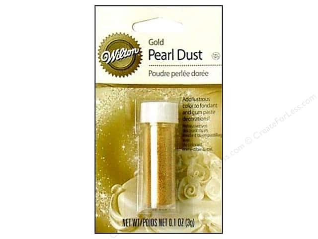 Wilton Edible Decorations Pearl Dust .1oz Gold