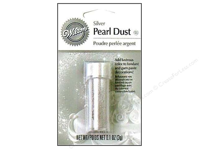 Wilton Edible Decorations Pearl Dust .1oz Silver