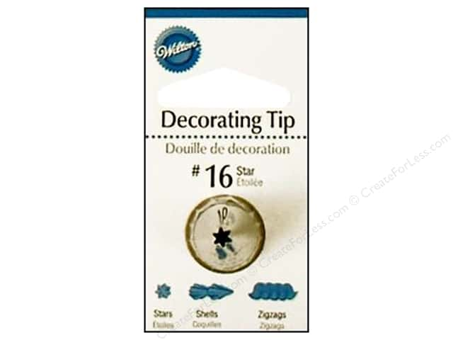 Wilton Cake Decorating Tip Numbers : Wilton Decorating Tip Open Star #16 -- CreateForLess