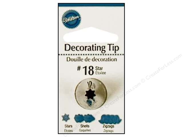 Wilton Tools Cake Decorating Tip Open Star #18