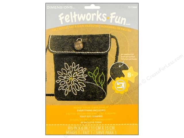 Dimensions Embroidery Kit Feltworks Fun Purse Mum