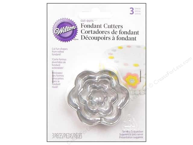 Wilton Fondant Cutter Cut-Outs Flower 3pc