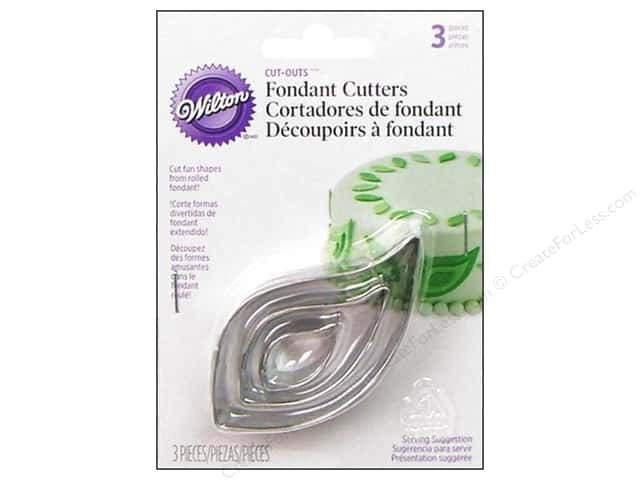 Wilton Tools Fondant Cutter Cut-Outs Leaf 3pc