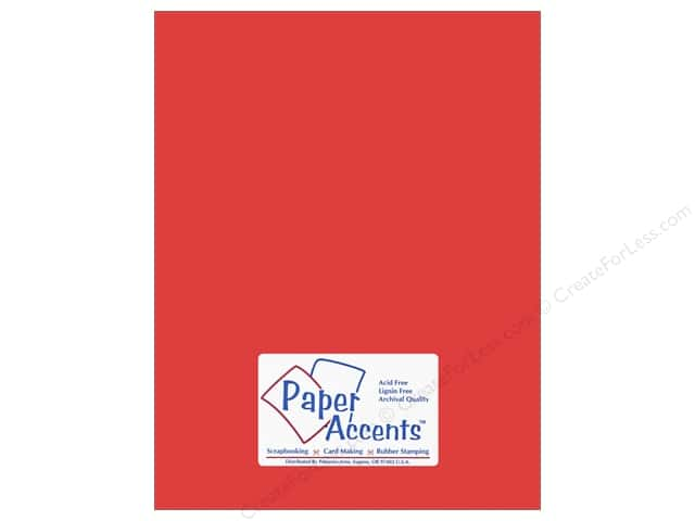 Cardstock 8 1/2 x 11 in. #10138 Stash Builder Firecracker by Paper Accents (25 sheets)