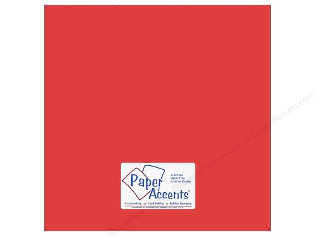 Cardstock 12 x 12 in. #10138 Stash Builder Firecracker by Paper Accents (25 sheets)
