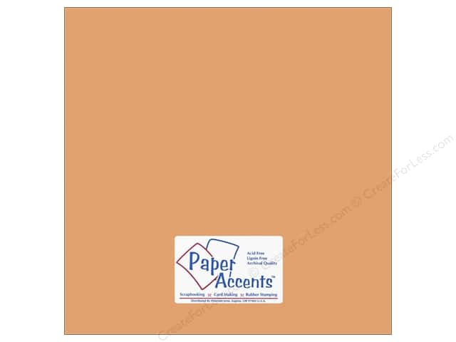 Cardstock 12 x 12 in. #10140 Stash Builder Shrimp by Paper Accents (25 sheets)