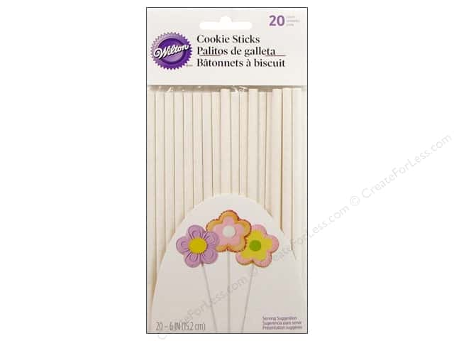 "Wilton Decorations Pops Cookie Treat Sticks 6"" 20pc"