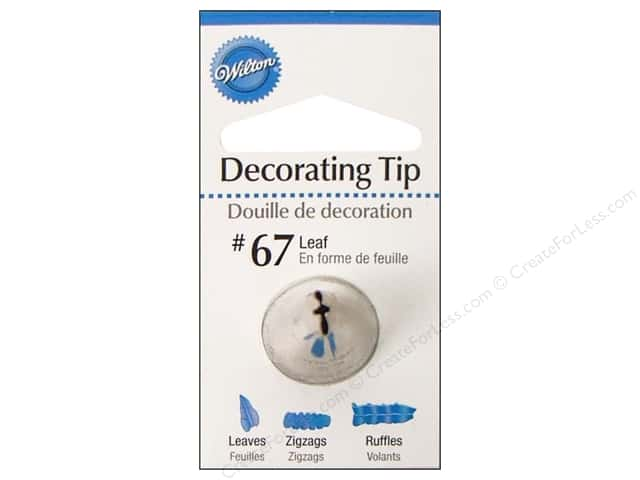 Wilton Cake Decorating Tip Leaf #67