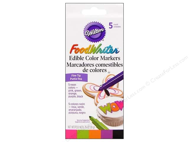 Wilton FoodWriter Edible Color Markers Fine Tip Neon 5 pc.