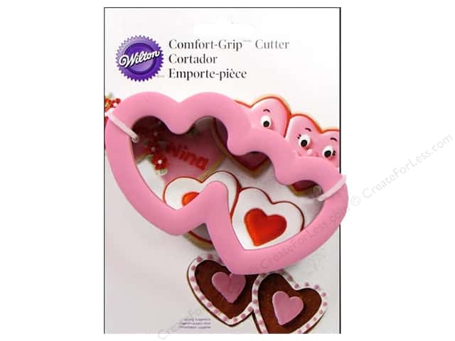 Wilton Cookie Cutter Comfort Grip Double Heart