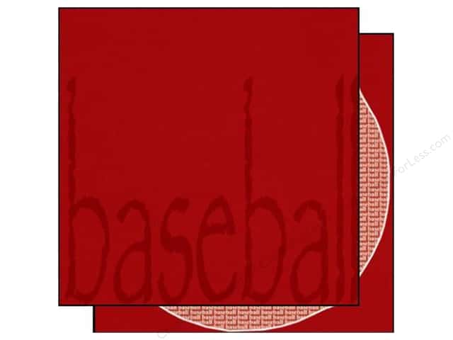Scrappin Sports Paper 12x12 Sporty Words Baseball (25 pieces)