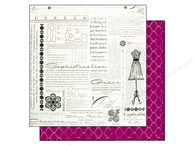 "Making Memories Paper 12""x 12"" Millinery Newsprint (25 pieces)"