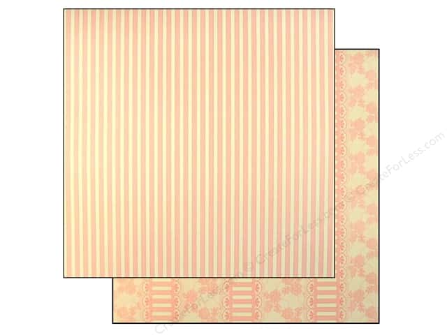 "Making Memories Paper 12""x 12"" Millinery Lace Stripe (25 pieces)"