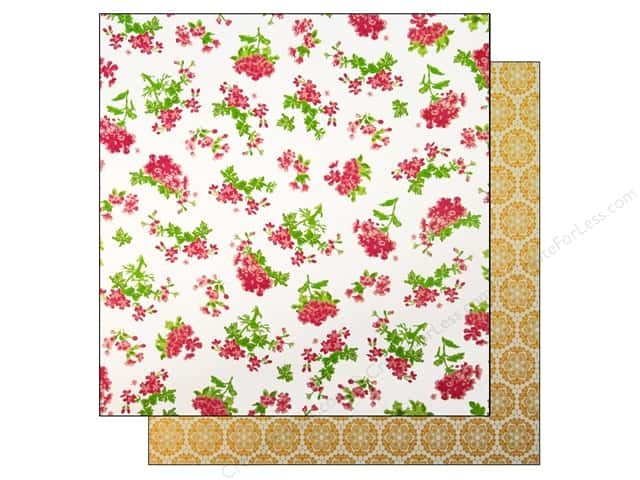 "Making Memories Paper 12""x 12"" Millinery Floral Stripe (25 pieces)"