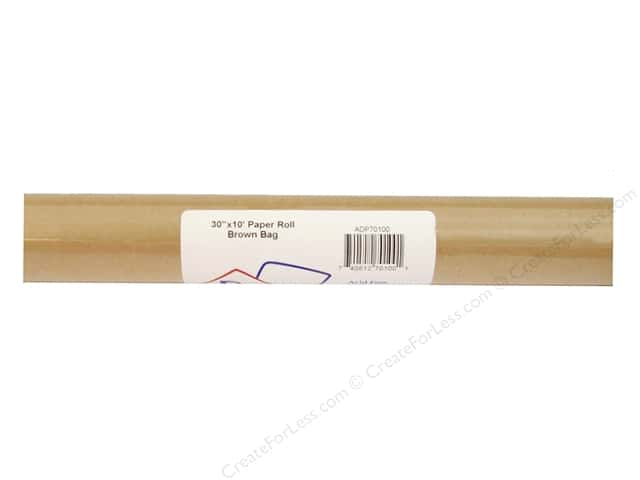 "Paper Accents Paper Roll 30""x10' Brown Bag- 100% recycled paper."