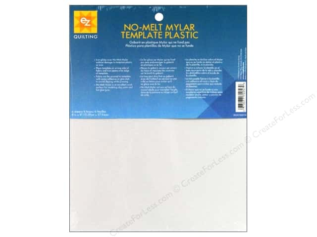 "EZ Template Plastic 8.5""x 11"" No Melt Mylar 6pc"