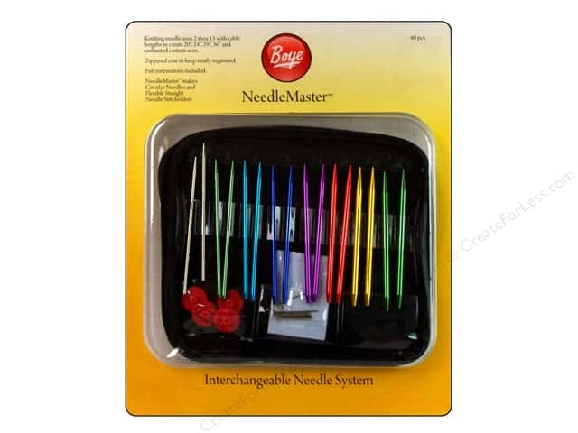Boye NeedleMaster Interchangeable Aluminum Knitting Set