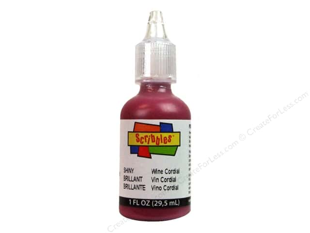 Scribbles 3D Fabric Paint 1 oz. Shiny Wine Cordial