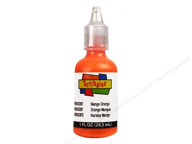Scribbles 3D Fabric Paint 1 oz. Iridescent Mango Orange